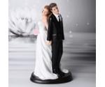 Couple de Mariés Socle Noir