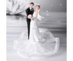 Couple de Mariés Socle Bouquet