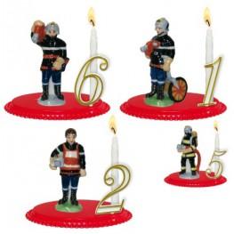 Bougie Anniversaire Pompier Boutique Havard