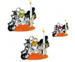 Bougies Anniversaire Moto Américaine